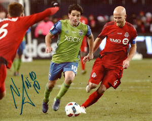 NICOLAS LODEIRO SIGNED 8X10 PHOTO SEATTLE SOUNDERS FC SOCCER MLS CUP CHAMPIONS