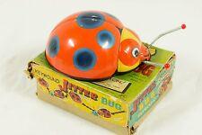Vintage Jitter Bug Wind Up Toy Lady Beetle Japan With Box Works! Jitterbug Tin