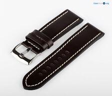 Uhren Lederarmband Uhrenband Leder Braun Weiß XXL MX10 Band Uhr Armband