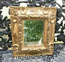 Vintage Antique Italian Gold Gilt Wall Mirror Pretty Carved Frame