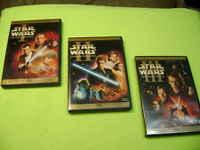 Star Wars Prequel Trilogy Dvds: Episodes 1 2 3 (6-Disc set Widescreen CLEAN DISC