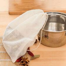 Reusable Cotton food filter bag Nut Milk Sprouting Juice Mesh Raw Food Soup
