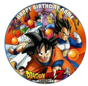 DRAGON BALL Z  Image Birthday Party Cake Topper 19cm Round