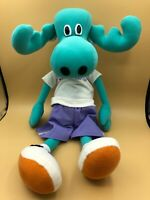 Rare Moose Enterprise Toys Mascot Plush Soft Stuffed Toy Doll Logo Green Blue