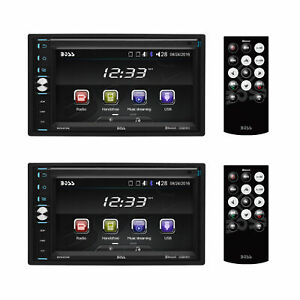 """Boss Double-DIN 320W 6.5"""" Touchscreen Bluetooth Car Multimedia Player (2 Pack)"""