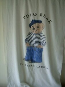 "RARE RALPH LAUREN POLO BEAR ""Breton Bear"" Bath / Beach Towel RRP £149.00"
