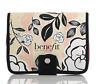 Benefit Cosmetics Floral Bi-Fold Makeup Bag - Zippered Case Compartments - New