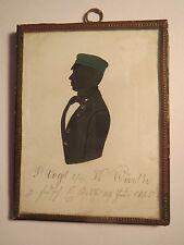 Karlsruhe - 1844 - P. Vogt als Schüler oder Student mit Mütze / Silhouette