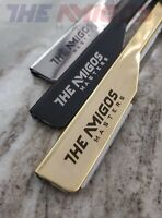 "STRAIGHT BARBER EDGE STEEL RAZORS FOLDING SHAVING KNIFE ""Exposed Blade"""
