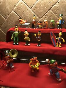 Sesame Street PVC Bert Ernie Vintage Muppets 13 Item Lot