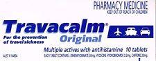 ==> One box 10 TABLETS OF TRAVACALM ORIGINA, FOR SEA&TRAVEL SICKNESS