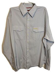 "Men's Simms Shirt SZ Large Light Blue ""No Fly Zone"" Long Sleeve L Fly Fishing"