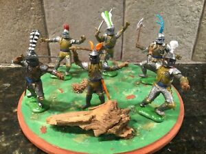 Toy Soldiers 6 Plastic 54mm Swoppett-type Knights