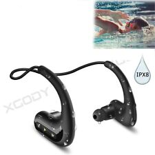 Sport Bluetooth Stereo Headset Wireless Headphones IPX8 Earbuds For Swimming MP3