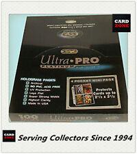 "Ultra Pro Platinum 4 Pocket Pages 3.5""x 5"" Factory box(100)x4-Large AFL Photos"