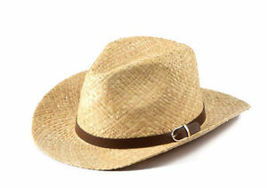 Miuno® Panama Hut mit breiter fester Krempe Party Stroh Hut H51017 Raffia