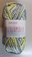 Sirdar Beachcomber #260 Catch the Sun - Grey Lemon & White 50g 100% Cotton