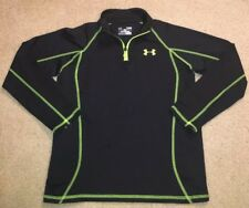 Under Armour UA Boys Fitted 1/4 Zip ColdGear Shirt  Green YLG Youth Large