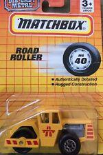 MATCHBOX Road Roller Yellow Die-Cast Metal MB 40