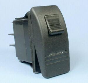 Carling Illuminated (Green) Locking Rocker Switch ON/OFF SPST 12vdc 20A