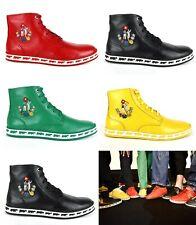 $495 Nueva Bally Hombre Cuero Napa anistern Hi-Top Sneakers Colección Animal