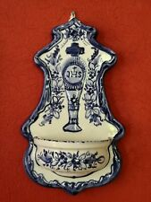 VTG ART POTTERY FAIENCE HOLY WATER FONT BENITIER CHALICE & HOST EUCHARISTIC