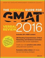 The Official Guide for GMAT Verbal Review 2016 with Online Quest.. 9781119042549