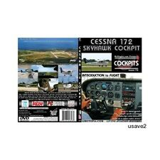"""Cessna 172 Skyhawk Cockpit-Intro to Flight Series-""""Learn How to Fly"""" DVD Video"""