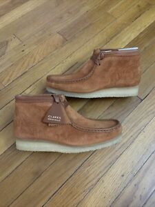 Clarks Originals WALLABEE Boot Tan Suede Moccasins 54818 Men's Size 9