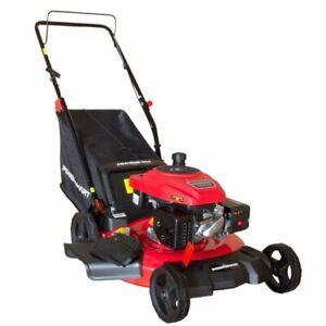 "Push Lawn Mower 170cc with Steel Deck PowerSmart 21"" 3-in-1 Gasoline"