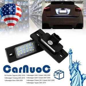 For Porsche Cayenne & Volkswagen Car Rear Led Number License Plate Lights Lamps
