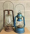 Antique Dietz Kerosene Lanterns, American Made 1945, set of 2