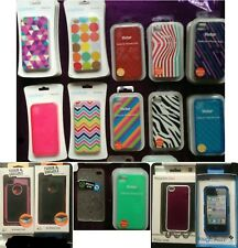 iPhone 4 4s DURABLE CASES Patterened or Plain CORD Screen Protector GREAT PRICE