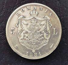 Romania 5 Lei 1881 Carol I