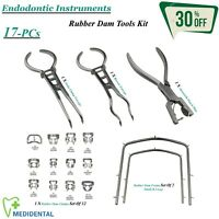 Endodontics Complet Caoutchouc Digue Instruments Ainsworth Punch Pince ,Brewer,