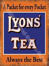 Lyons' Tea Drink Cafe Kitchen Old Vintage Shop Advertising Medium Metal/Tin Sign