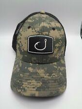 NWOT AVID FISHING GEAR Digital Camo HOOK Mesh Snapback HAT Cap
