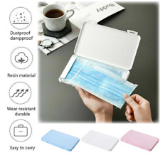 Face Mask Storage Box Portable Container Household Plastic Organizer Small Case