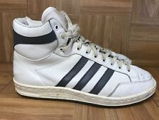 RARE🔥 Adidas Vintage Basketball Shoes White Leather Made In FRANCE Sz 8 Men's