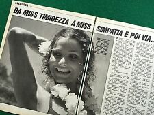 VV120 Clipping Ritaglio (Anni '70) 25x19 cm 3 pag - ELSA GLAVINA Miss Taormina