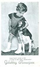 New ListingUnusual Vintage Postcard Springer Spaniel Dog & Child Netherlands 1943