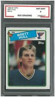 BRETT HULL #66 RC ROOKIE 1988-89 Topps ~ BSG 8