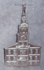EUC 1992 AH New England Sterling Colonial Meetinghouse Church Christmas Ornament