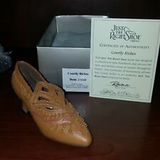 Just The Right Shoe By Raine Courtly Riches #25040 With Coa
