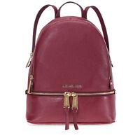 Michael Kors Rhea Medium Leather Backpack - Oxblood 30S5GEZB1L-610