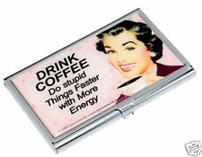 COFFEE DRINKER Business CARD CASE Credit Card Holder