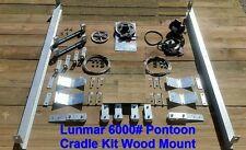 Lunmar 6000# Pontoon Cradle Kit Wood Mount