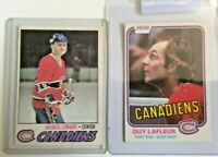 Montreal Canadiens Lot 12 Cards Guy Lafleur Jacques Lemaire Shutt and others