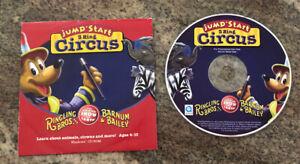 JumpStart 3 Ring Circus PC CD kids learn animals clowns! Ringling Bros. & Barnum