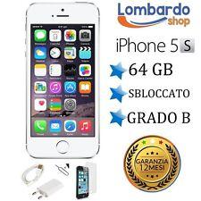 APPLE IPHONE 5S 64GB GRADO B BIANCO SILVER ORIGINALE RIGENERATO RICONDIZIONATO